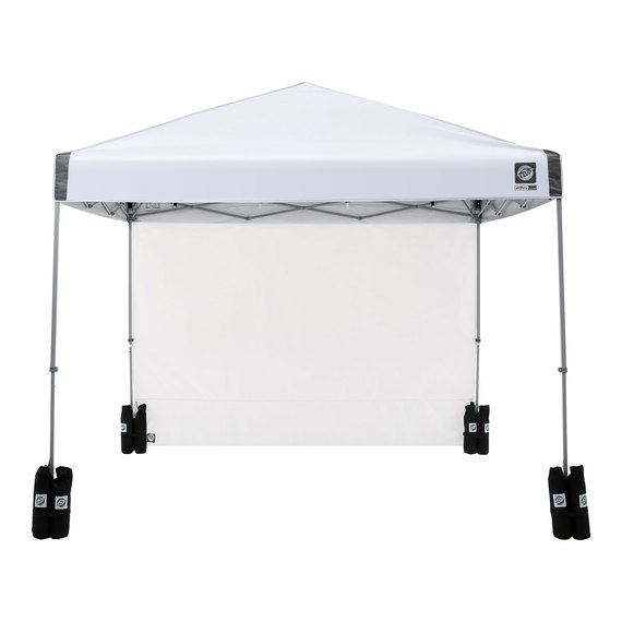 E Z Up Regency 10 X10 Straight Leg Canopy With Wall And Weight Bags