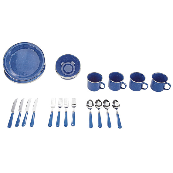24-Piece Enamel Tableware Set  - view 1