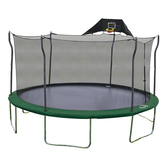 15' Trampoline with Basketball Hoop  - view 1