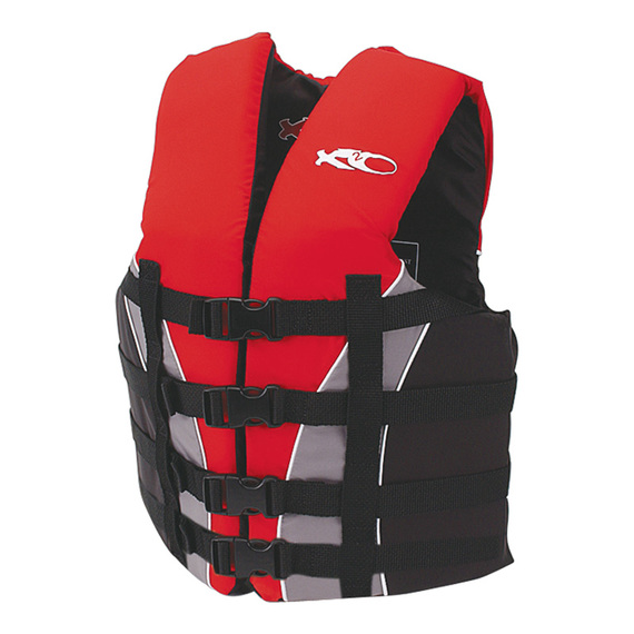 Adult's 4-Buckle Dual-Sized Nylon Life Vest