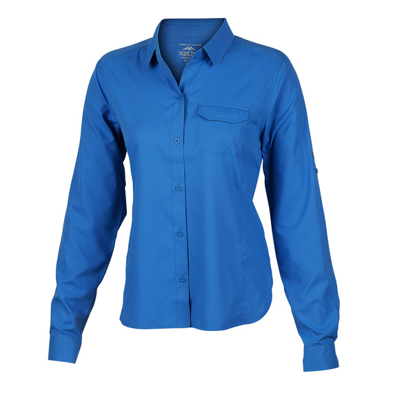 Women's Long-Sleeve Roll-Up Performance Top