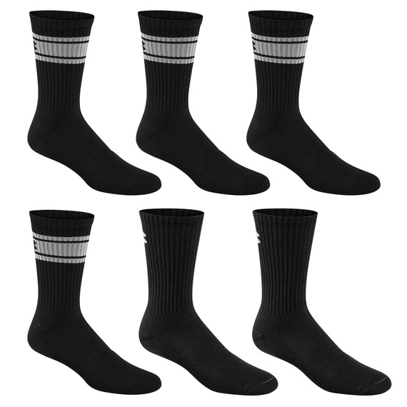 Men's Charged Cotton Striped Crew Socks - 6-Pack