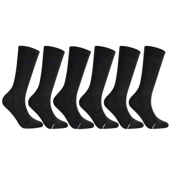 Men's Aerated Mesh Cushioned Crew Socks - 6-Pack