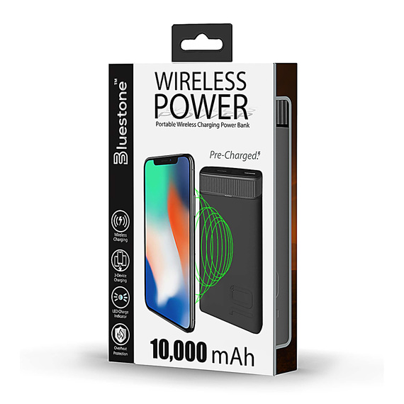 10,000 mAh Portable Wireless Charging Power Bank  - view 1