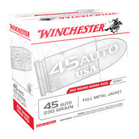 Winchester USA .45 ACP 200-Round Pack Pistol Target Ammunition