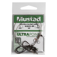 Mustad UltraPoint 30 lb. Wire Live Bait Leader - Size 1