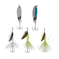 8 to 5 Fishing Spoon Spinner 1/8oz. 5-Piece Lure Kit