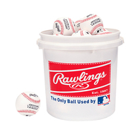 Rawlings Bucket with 24 Official League Recreational-Play Baseballs
