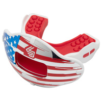 Shock Doctor USA Flag Max AirFlow 2.0 Football Mouthguard