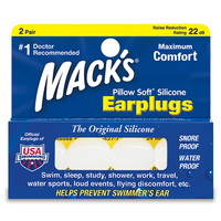 Macks Pillow Soft Silicone Earplugs - 2 Pairs