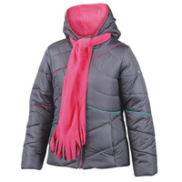 Pacific Trail Girls' Puffer Jacket with Scarf
