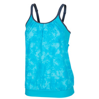 Free Country Women's Tye-Dye Splash Blouson Tankini Top