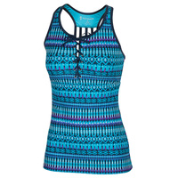 Free Country Women's Beach Batik Lace-Up Tankini Top