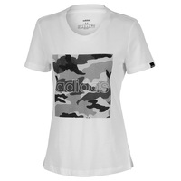 adidas Women's Boxed Camo Short-Sleeve Tee