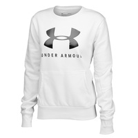 Under Armour Women's Rival Fleece Sportstyle Graphic Crew Top