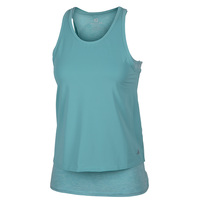 FREE2B Women's On-the-Go Mesh Layered Twist Back Tank Top