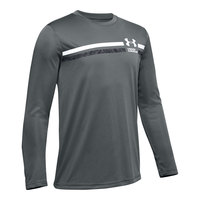 Under Armour Boys' Tech Branded Stripe Long-Sleeve Shirt