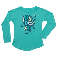 Nike Girls' Confetti Just Do It Long-Sleeve Tee