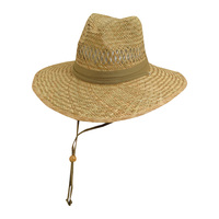 Dorfman Men's Safari Straw Hat