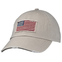 Dorfman American Flag Cotton Mesh-Back Baseball Cap