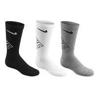 Nike Youth's Performance Graphic Crew Training Socks - 3-Pack