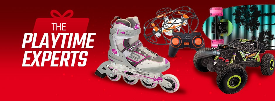 Holiday Gift Guide - Roller Blades, Flying RC Toy, and RC Truck