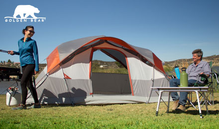 Shop Golden Bear camping gear - a family camping